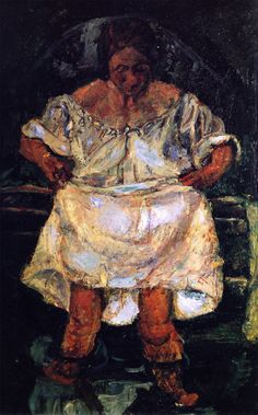 Chaim Soutine: Woman entering the water. ca. 1931. Private collection.