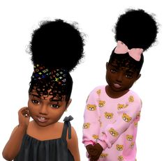Butterfly Puffs Child and Toddler Sims 4 Toddler Clothes, Sims 4 Cc Kids Clothing, Sims 4 Mods Clothes, Sims Mods, Toddler Stuff, Sims 4 Curly Hair, Sims Hair, Curly Hair Styles, Sims 4 Cc Skin
