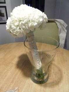 Yep - I'm doing this. DIY bouquet using carnations - so cheap and easy! Carnation Bouquet, Peony Bouquet Wedding, Diy Bouquet, Bridesmaid Bouquet, Carnations, Fake Flowers, Diy Flowers, Wedding Shoot, Our Wedding