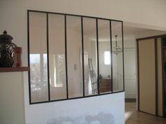 Verri re d 39 int rieur cloison vitr e en acier verri re type loft ve - Cloison vitree interieure leroy merlin ...