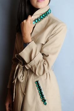 DIY BURBERRY INSPIRED JEWELED TRENCH