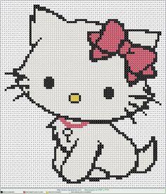 gatita blanca EN PUNTO DE CRUZ, Cross stitch patterns