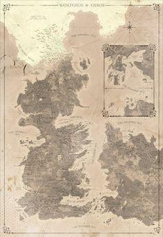 Mapa detallado de Game of Thrones