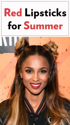Red lipstick for summer - it's a thing! Click through for 5 celebrity--approved shades