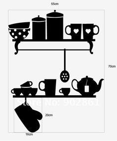 Kitchen Shelves Decal