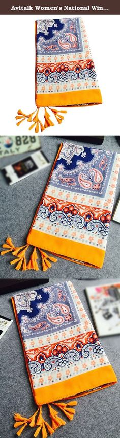 Avitalk Women's National Wind Style Orange Flower Printing Long Soft Scarf Wrap - Multicolor. Features: Fashion & Gorgeous Match with suitable apparel for different occasion,make you distinctive Specification: Condition: 100% Brand New Color: As picture Material: Cotton Size:180cm*100cm Shopping tips: hand measurement will have discrepancy of abo.