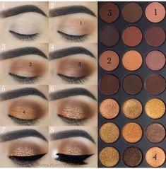 Makeup Idea Braun - - Kosmetik - Make-up Makeup Goals, Makeup Inspo, Makeup Inspiration, Makeup Tips, Beauty Makeup, Makeup Ideas, Skin Makeup, Eyeshadow Makeup, Makeup Contouring