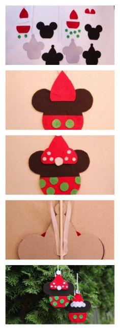 #Disney Craft: Mickey and Minnie Caramel Apple Ornaments