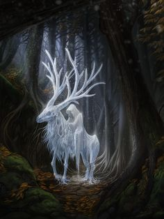 Breath of Winter by Sylwia Smerdel It looks like a depiction of Yoseph Von Kringle and his Rein Deer Duneyrr. (AKA: Jack frost and Dun) Since Christmas is near perhaps I'll look for other deer that resemble the deer of Pejhota Von Kringle and Krampus Von Kringle.....