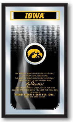 Iowa Hawkeyes Fight Song Mirror at SportsFansPlus.com. Visit website for Bonus Coupon!