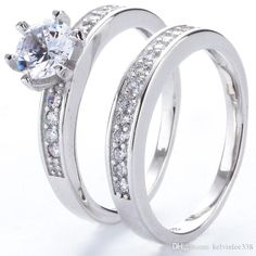 2017 Fashion 925 Sterling Silver New Charm White Topaz Crystal Stone Wedding Ring Jewelry From Kelvinlee338, $3.01 | Dhgate.Com