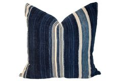 Indigo & Linen Pillow
