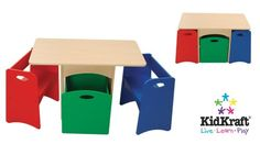 KidKraft Table with Primary Benches KidKraft http://www.amazon.com/dp/B0001XAHJU/ref=cm_sw_r_pi_dp_Jst2tb0EF792DB33