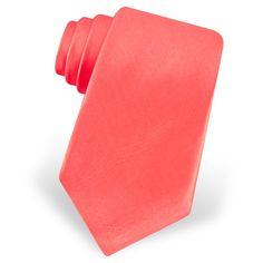coral silk tie coral necktie tiescom