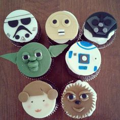 """""""May the Fourth be with you"""" #StarWars #Cupcakes #StarWarsFans #DarthVader #Yoda #Chewbacca #RTD2 #PrincessLeah #StormTrooper #C_3PO #FondantToppers #CupcakeToppers #LifeIsSweet #ABakersLife #Desserts #Sweets #LatePost  #Hollister #HollisterCa #hollisterlocals #montereylocals - posted by  https://www.instagram.com/cupcake_heaven_ -  See more of Hollister, CA at http://hollisterlocals.com"""