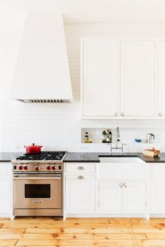 The bright, open kitchen of this Brooklyn brownstone is proof that all-white kitchens don't have to be boring. Here are five design ideas worth stealing from this serene space.