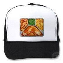 Retro Kitsch TV Dinner Pork Loin Trucker Hats