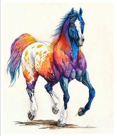 Horse Drawings, Animal Drawings, Art Drawings, Watercolor Horse, Watercolor Paintings, Horse Artwork, Arte Pop, Equine Art, Western Art