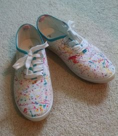 8f66a65b48c Paint Splatter Custom Ked style shoes by TailoredTimbs on Etsy