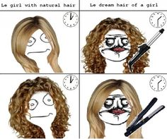 Le girl with natural hair le dream hair of a girl.... This is so true.