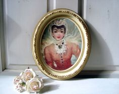 Vintage Oval Frame Wondura Frame Framed by WillowsEndCottage