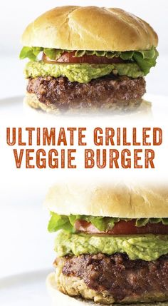 BEST Veggie Burger Recipe (Grilled or Baked!) – A Couple Cooks Want vegetarian grilling ideas? Finally, here's a delicious Grilled Veggie Burger that doesn't fall apart on the grill, and our grilled veggie burger tips! Vegetarian Grilling, Vegetarian Recipes Dinner, Vegan Dinners, Veggie Recipes, Healthy Recipes, Vegetable Burger Recipe, Homemade Veggie Burgers, Chicken Recipes, Vegetarian Soup