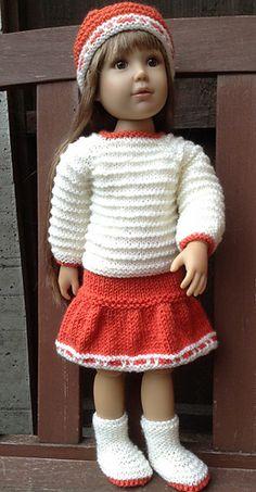 Top Down Cardigan Set for Kidz n Cats Slim Bodied 18 inch dolls.