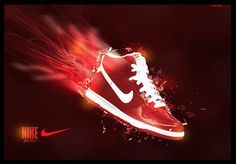 by imanol-h on deviantART Shoe Poster, Nike Ad, Shoes Ads, Sneaker Art, Shoes Photo, Air Max Thea, Print Advertising, Nike Air Max, Branding Design