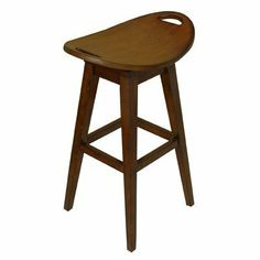 "Carolina Accents CA12018 Thoroughbred 32"" Backless Swivel Bar Stool in Cherry by Carolina Accents. $114.99. 23 in. L x 16 in. W x 32.38 in. H Our Thoroughbred Stools are replicas of an antique with modern flair. The curved seats are deceptively comfortable and feature a return swivel mechanism.. Available in additional finishes. Return swivel seat. Made from wood. CA12018   Features: -Bar stool. -Cherry finish. -Constructed of solid wood. -Curved seat has a retur..."