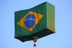 Brazil flag hot air balloon