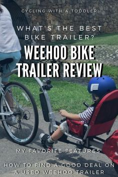 One family's review of the Weehoo Bike Trailer - A mom's favorite features + her toddler's GoPro video perspective while riding in the Weehoo Turbo trailer!  #biketrailer #bicycletrailer #biketravel #kidsbike #bikingwithkids #cycling #bicycling #funtimesguide