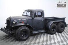 1946 Dodge Power Wagon Rare 6 Wheel! One of a Kind! Matte Finish | Worldwide Vintage Autos