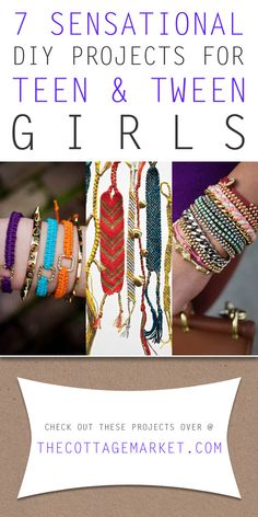 7 Sensational DIY Projects for Teen and Tween Girls - The Cottage Market