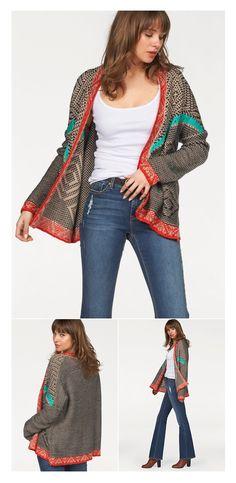 Strickjacke von AJC im Ethno-Style! Das aufwendige Grobstrickmuster mit kostrastfarbenen Details macht aus dem Cardigan sowohl einen komfortablen Wohlfühlbegleiter als auch ein starkes Fashion-Piece. Und ist dabei auch noch nachhaltig!