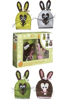 Take a look at this adorable felt kit to craft 4 bunny egg warmers, ideal as a gift or a fun addition at breakfast on Easter Sunday! Easter Crafts For Adults, Adult Crafts, Easter Bunny Eggs, Sweet Trees, Easter Gift, Spring Crafts, Craft Kits, Cross Stitch, Sunday