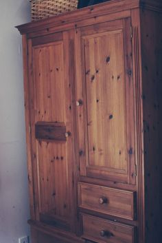 Up cycling a Pine Wardrobe With Chalk Paint