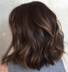 70 Brightest Medium Layered Haircuts to Light You Up Mid-Length Layered Wavy Hair Brunette Color, Balayage Brunette, Ombre Hair Color, Brown Hair Colors, Brunette Hair, Balayage Hair, Brunette Mid Length Hair, Blonde Hair, Haircolor