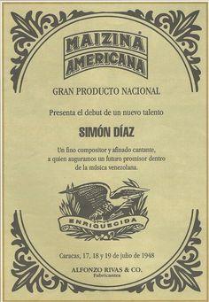 Poster de la primera presentación de Simón Díaz