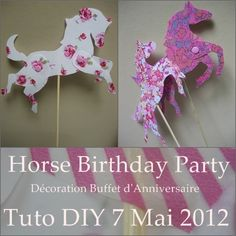 horse themed birthday party | Horse Birthday Party - Carte d'invitation - Tuto DIY - Que Cache Ma ...