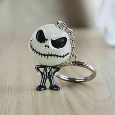 The Nightmare Before Christmas Jack Skellington Keychain. Jack Devil Skull Pumpkin Keychain Nightmare Before Christmas. Key Ring Hanger The head glowed in the dark. Jack Skellington, Nightmare Before Christmas Halloween, Christmas Night, Christmas Decor, In China, Jack Und Sally, Matching Couple Rings, Jack The Pumpkin King, Wacky Wobbler
