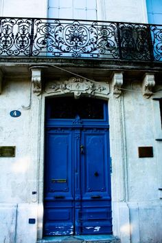 Blue Doors in Southern France  8x10 Fine Art by rebeccaplotnick, $30.00