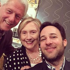 Bill and Hillary Clinton attend screening for Danny Strong film