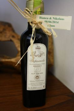 Wedding favor! Tiny bottle of Organic Tuscan Extra Virgin Olive Oil. #wedding #italianwedding #weddingideas #weddingfavoridea