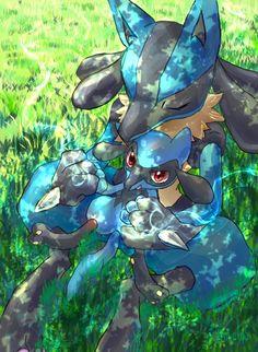 Lucario and Riolu Lucario Pokemon, Pokemon W, Pokemon Comics, Pokemon Fan Art, Cool Pokemon, Bulbasaur, Pokemon Images, Pokemon Pictures, Satoshi Pokemon