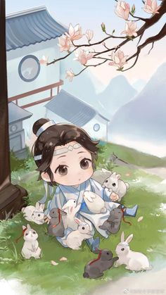 """The Untamed video game celebrated Sizhui's birthday with this pic. Happy birthday A-Yuan❤️"" Anime Chibi, Kawaii Anime, Anime Art, Animé Fan Art, Cute Anime Pics, Anime Couples Manga, Cute Chibi, Cute Wallpapers, My Idol"