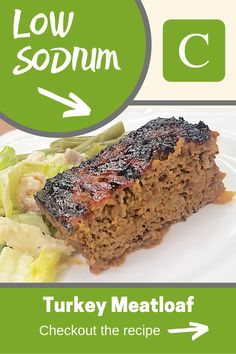 A delicious salt free turkey meatloaf recipe that has a moist inside, and crispy outside. Low Sodium Turkey Meatloaf Recipe, Moist Turkey Meatloaf, Meatloaf Recipes, Salt Free Recipes, Dutch Recipes, Turkey Recipes, Fish Recipes, Healthy Recipes, Kidney Recipes