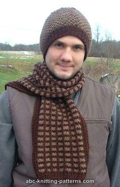 ABC Knitting Patterns - Diamond Pattern Hat http://www.abc-knitting-patterns.com/1186.html
