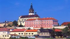 Bishop's residence in Litoměřice (North Bohemia), Czechia Prague, Europe Photos, Manor Houses, European Countries, Central Europe, Old City, Palaces, Czech Republic, Monuments