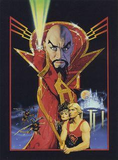 "Richard Amsel's original art for the ""Flash Gordon"" (1980) movie poster"