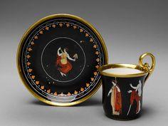 Cup and saucer Maker: Dagoty (1798–1820) ca. 1810 French (Paris) (rue de…